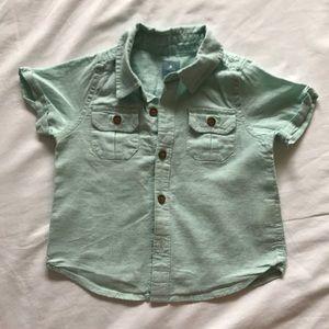 Baby Gap linen/Cotton blend button up sz 18-24mo
